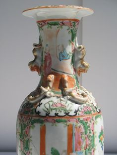 19th C. Chinese Porcelain Vase  Famille by GentlemanlyPursuits, $125.00