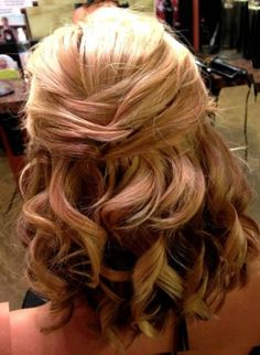 mother of bride hair half up -