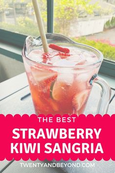If you love wine and but want something a little lighter, this super easy, refreshing summer cocktail is perfect for you! Refreshing Summer Cocktails, Fun Cocktails, Cocktail Drinks, Cocktail Club, Strawberry Sangria, Strawberry Kiwi, Sangria Recipes, Cocktail Recipes, Liquor Drinks