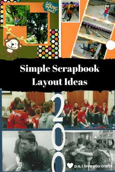 Here are four Simple Scrapbook Ideas that you can try today. You will need only a few scrapbook supplies and a little creativity.