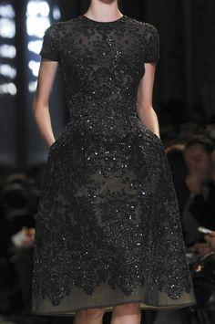gorgeous little beaded black dress