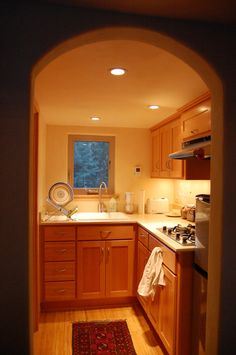 Beautiful tiny house kitchen! - To connect with us, and our community of people from Australia and around the world, learning how to live large in small places, visit us at www.Facebook.com/TinyHousesAustralia