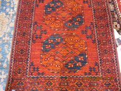 #29) Ersari Turkoman runner close-up.