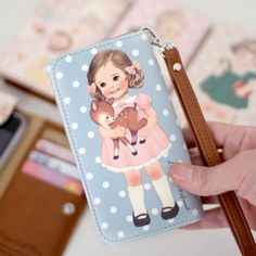 Paper Doll Smartphone Wallet - gonna absolutely buy it! Laptop Pouch, Wallet, Phone Stickers, Cute Stationery, Cute Illustration, Sticky Notes, Paper Dolls, Balloons, Smartphone