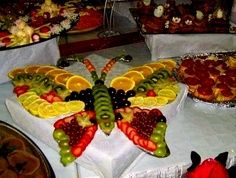 food topiary centerpieces | ... Done Fruit Butterfly - butterfly, clever, food, fruit, idea, shaped