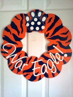 Auburn Wreath Door Hanger