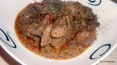Bea(u)ty kitchen: Wątróbki w sosie ziołowo-musztardowym