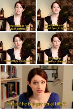 So funny! Lizzie Bennet Diaries. A modern Pride and Prejudice told through 100 episodes of a video blog. Super funny and super awesome!