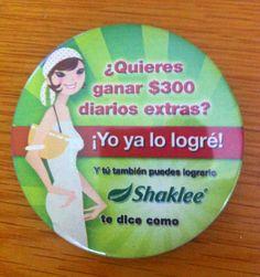 Botón 7.5 cm.  Shaklee