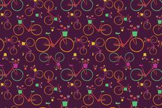 Check out Vector bike seamless patterns. by Little A (Aigul) on Creative Market Card Patterns, Graphic Patterns, Graphic Design, City Background, Menu Cards, How To Draw Hands, Bike, Creative, Children Cartoon