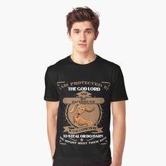 """I Am Protected By Dachshund Dog T-Shirt"" T-shirt by ledungx84 | Redbubble Golden Dachshund, Dapple Dachshund Puppy, Dachshund Funny, Dachshund Quotes, Dachshund Shirt, Wire Haired Dachshund, Dachshund Gifts, Rottweiler Puppies, Dachshund Puppies"