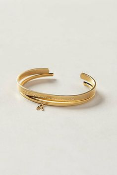 """A sign from my Dad. """"I love you just the way you are"""" and a """"wishbone"""" cuff. Predilection Bracelets #anthropologie"""
