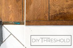 How to Make Your Own Threshold Piece for Hardwood Flooring