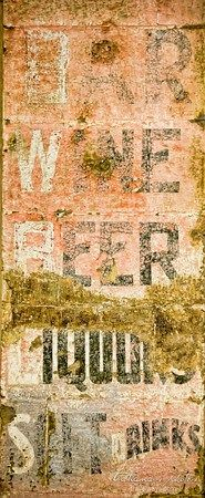 Weathered bar sign in Austin, Nevada - the historic mining town