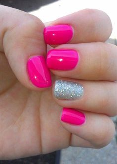 15 Cute Pink Summer Nail Art Designs, Ideas, Trends  Stickers 2014