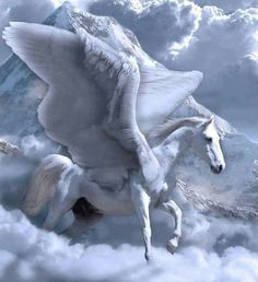 Personification of the water, solar myth, or shaman mount, Carl Jung and his followers have seen in Pegasus a profound symbolic esoteric in relation to the spiritual energy that allows to access to the realm of the gods on Mount Olympus.