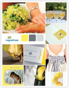 Sunny and Bright Wedding Inspiration - Yellow and Gray Color Palette