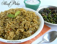 Mint rice is  flavorful one pot meal and a nice lunch box dish.