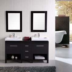 Have to have it. Design Element New York 60-in. Double Bathroom Vanity Set $1399.00