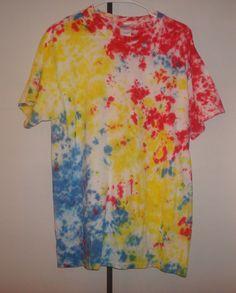 Tie Dye Tshirt  Primary Color Splash TieDye  by TexasTieDyeGuy, $13.99