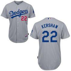 Clayton Kershaw Los Angeles Dodgers Grey Jersey