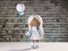 Doll Josie. Tilda doll. Textile doll. Soft toy. Cute от OwlsUa