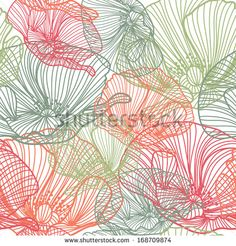 elegant seamless pattern with decorative poppy flowers for your design