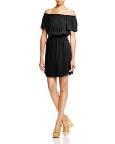 Ella Moss Off-The-Shoulder Flutter Dress