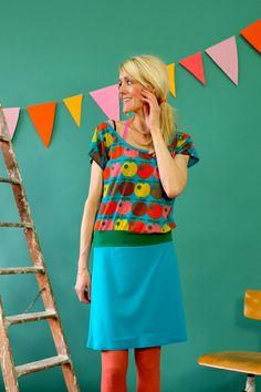 Knielange Kleider - LÄSSIGES KLEID ' FARBECHT' IN TÜRKIS - ein Designerstück von Bonnie-and-Buttermilk bei DaWanda