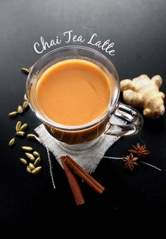 Dairy-Free Chai Tea Latte - Easy way to make Chai tea latte that tastes as good as a coffee shop! Comforting and warming. Perfect recipe for fall! Vegan/gluten free/refined sugar free!