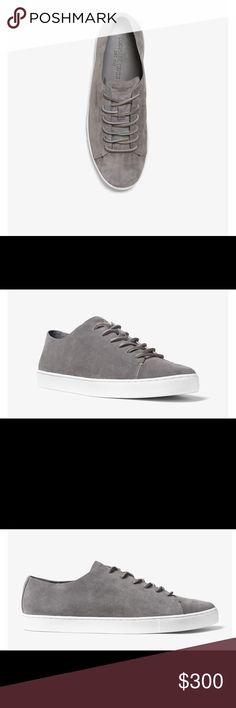 Michael Kors Jared Suede Sneaker Gray suede  White midsole Michael Kors Shoes Sneakers