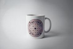 Caneca Mandala de porcelana , feita com impressão digital . Encomendas pelo e-mail sio_1961@hotmail.com