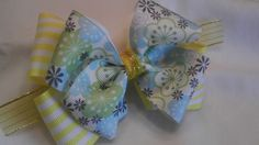 Double the Pleasure Pinwheel Hair Bow by AmalieBowtique on Etsy, $4.99
