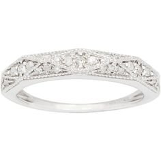10k White Gold 1/3ct Pave Milgrain Diamond Band (G-H, I1-I2) - Overstock™ Shopping - Big Discounts on Women's Wedding Bands