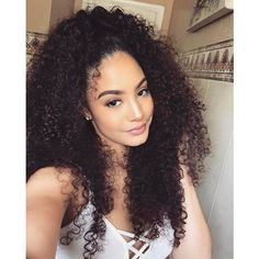 Top quality peruvian curly hair weave 3 bundles with lace closure,factory direct sale 100 remy human hair extensions Long Curly Hair, Curly Hair Styles, Natural Hair Styles, Curly Wigs, Natural Curls, Peruvian Curly Hair, Curly Weave Hairstyles, Black Hairstyles, Dreadlock Hairstyles
