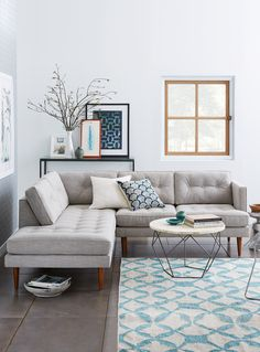 Grey and Light Blue Living Room. 20 Grey and Light Blue Living Room. Love This Light Blue Living Room Living Room Sectional, Living Room Grey, Home Living Room, Apartment Living, Living Room Furniture, Living Room Designs, Sectional Sofas, Modern Sectional, Small Sectional