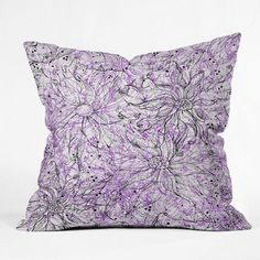 DENY Designs Home Accessories | Lisa Argyropoulos Angelica Purple Throw Pillow