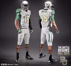 The new 2015 gunmetal gray Baylor Football uniforms. #SicEm