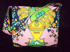 PETER MAX  Vintage PINK FABRIC TOTE BAG PURSE HANDBAG RARE LIMITED!!!! #Handmade #ShoulderBag