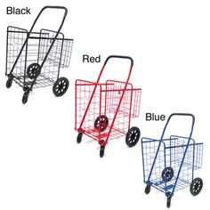 @Overstock - This multi-purpose shopping cart allows you to conveniently transport laundry, groceries, and much more. With two swivel wheels on the front that are capable of rotating 360 degrees, this metal-iron utility cart features a spacious basket.http://www.overstock.com/Home-Garden/ATHome-Enhance-Duty-Shopping-Cart/7022701/product.html?CID=214117 $39.99