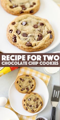 Bake just two chocolate chip cookies with this classic single serving cookie recipe. Bake just two chocolate chip cookies with this classic single serving cookie recipe. Single Chocolate Chip Cookie Recipe, Single Cookie Recipes, Single Serve Cookie, Easy Chocolate Chip Cookies, Best Cookie Recipes, Chocolate Recipes, Sweet Recipes, Single Serving Chocolate Chip Cookie Recipe, Recipes
