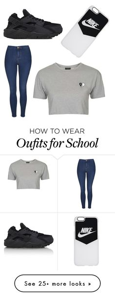 """""""School exam day"""" by laurenmirabella on Polyvore featuring Topshop and NIKE"""