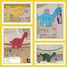 Les groupes de couleur Dinosaur Activities, Dinosaur Crafts, Lolo, Business For Kids, Dinosaur Stuffed Animal, Groupes, Classroom, Stage, Art