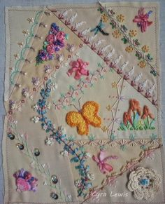 Free Form Stitching: A Crazy Quilt Block completed