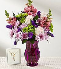 My Angel, My Mom Mother's Day Bouquet with Necklace - VASE INCLUDED