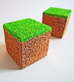 Minecraft :) you could spray paint foam like this then stack them like a small house for reading or something!