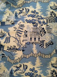 Vintage Brunschwig Fabric find on Ebay...10 yards of HEAVEN...just need somewhere to use it!