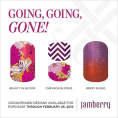 """Discontinued wraps available for purchase through February 28, 2015!! """"Beauty In Bloom"""" """"Jr Chevron Blooms"""" """"Berry Blend"""""""