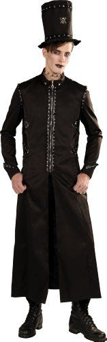 amazing Rubie's Costume Bloodline Men's Gothic Long Jacket and Hat, Black, X-large Steampunk Movies, Steampunk Coat, Steampunk Clothing, Shirt Hair, Shirt Jacket, Sweaters For Women, T Shirts For Women, Clothes For Women, Victorian Coat
