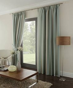 KAROK Duck Egg Stripe design 90 inch wide x 90 inch drop Pencil Pleat Fully Lined Ready Made Curtains Duck Egg Blue Living Room Curtains, Duck Egg Curtains, Net Curtains, Cheap Curtains, Striped Curtains, Pleated Curtains, Home Living Room, Living Room Decor, Pencil Pleat